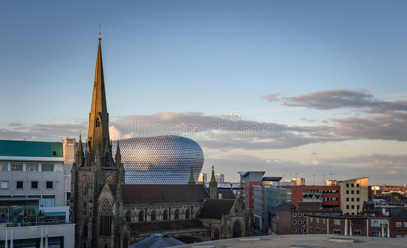 Birmingham England,UK. Birmingham is a major city in England's West Midlands region with the third most populous urban area in the United Kingdom royalty free stock photo