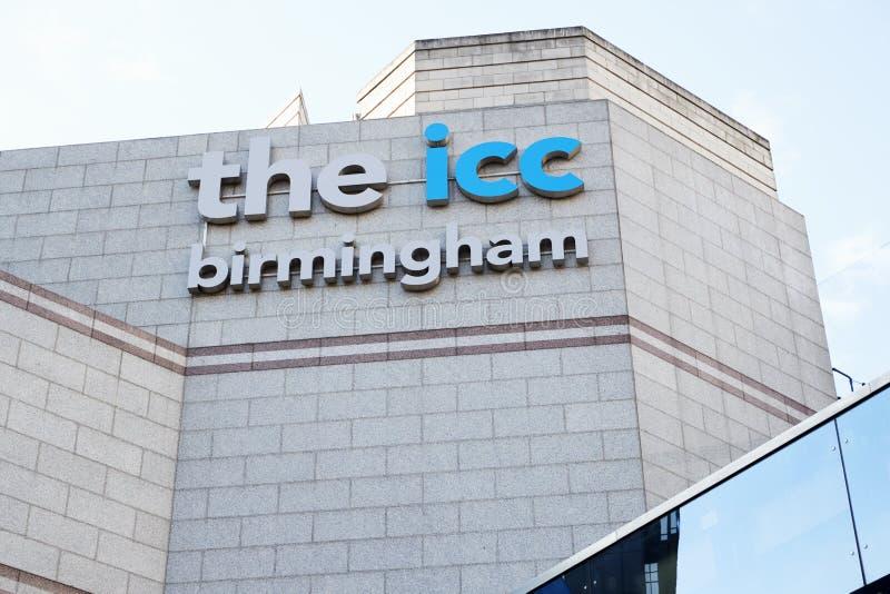 Birmingham, Großbritannien - 6. November 2016: Äußeres des Birmingham-internationalen Konferenzzentrums stockfotos