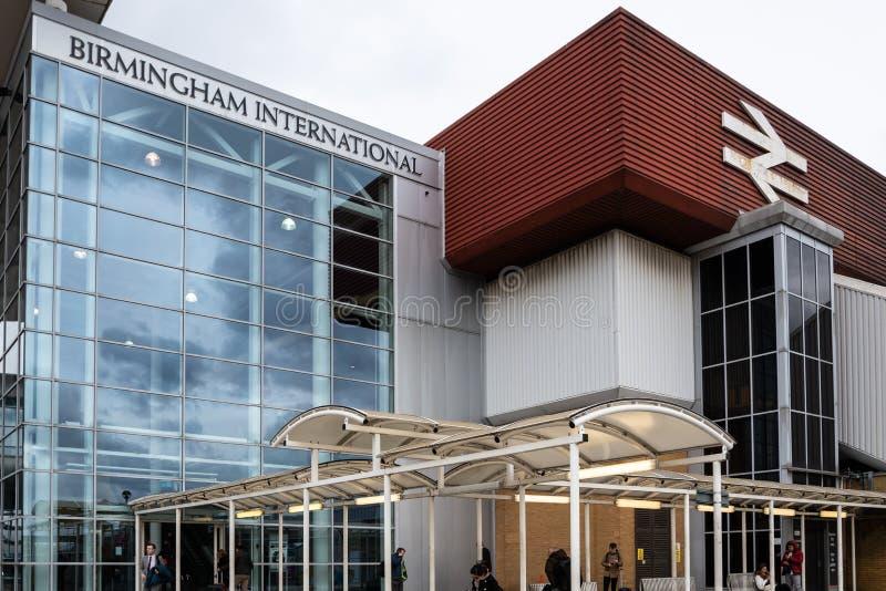 Birmingham Internatioonal station arkivfoto