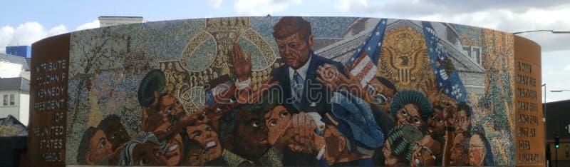 Birmingham JFK minnesmärkekonst arkivbilder