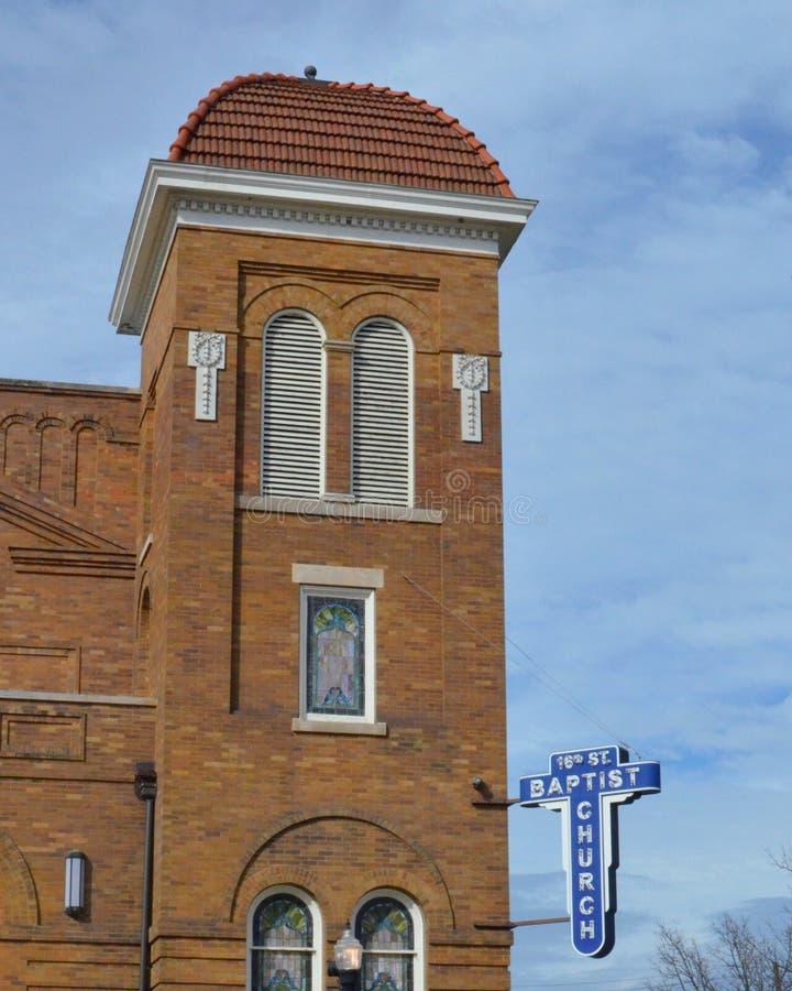 Birmingham kościół baptystów zdjęcie stock