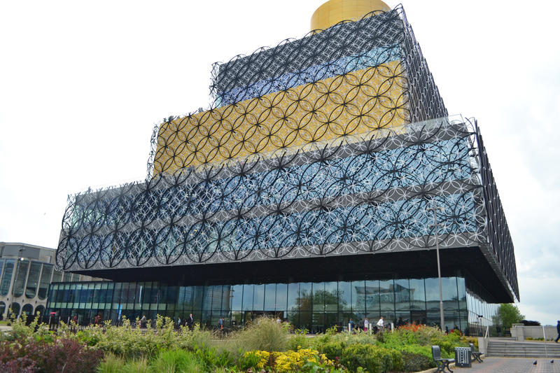 Birmingham Library stock photo