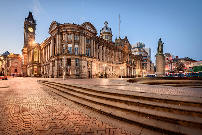 Birmingham Town Hall ,England royalty free stock photo