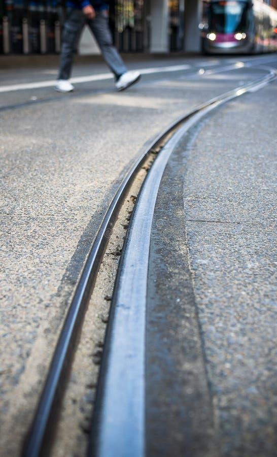 Birmingham tramwaj Nową ulicy stacją obraz stock