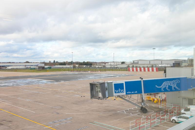 Birmingham/ UK - 03.03.19 : Birmingham Airport tarmac gates airplane stock images