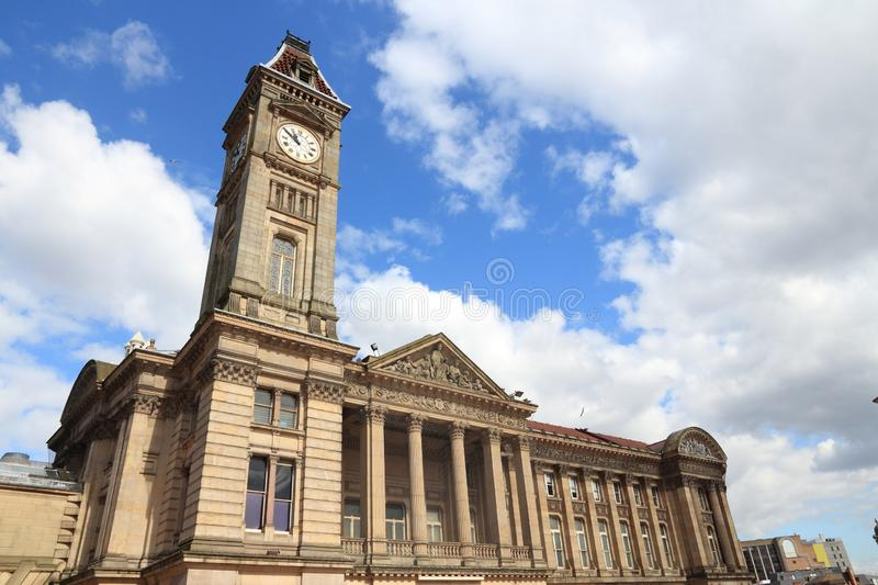 Birmingham UK landmark. Museum and Art Gallery. Seen from public square. West Midlands, England royalty free stock image