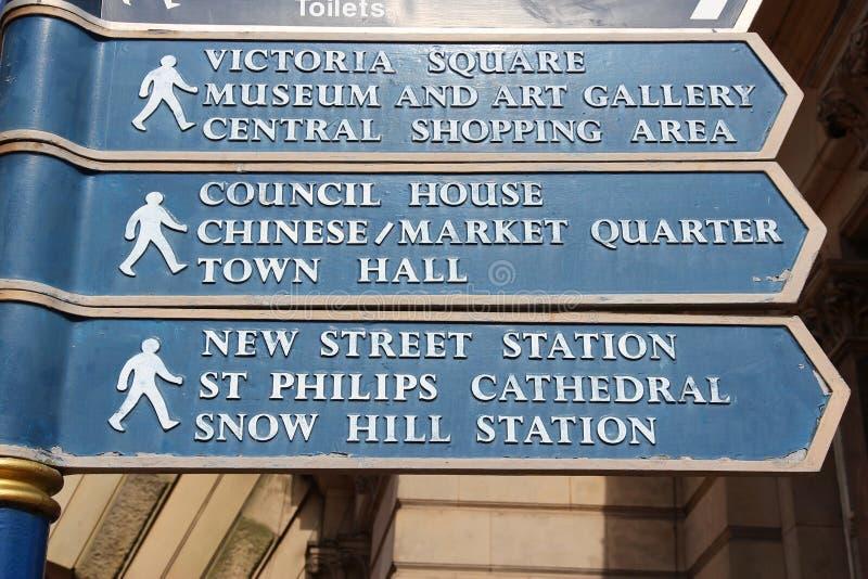 Birmingham UK Landmarken stockbild