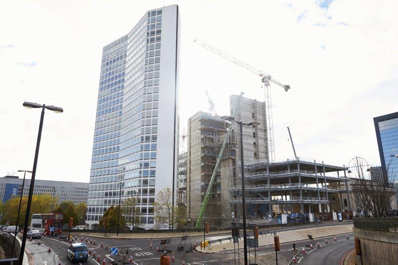 Birmingham, UK - 6 2016 Listopad: Budowa Dla alfy wierza W Birmingham zdjęcie stock