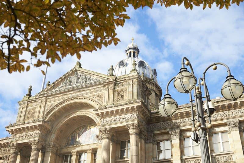 Birmingham, UK - 6 2016 Listopad: Powierzchowność Birmingham rada miasta budynek W Wiktoria kwadracie zdjęcie stock