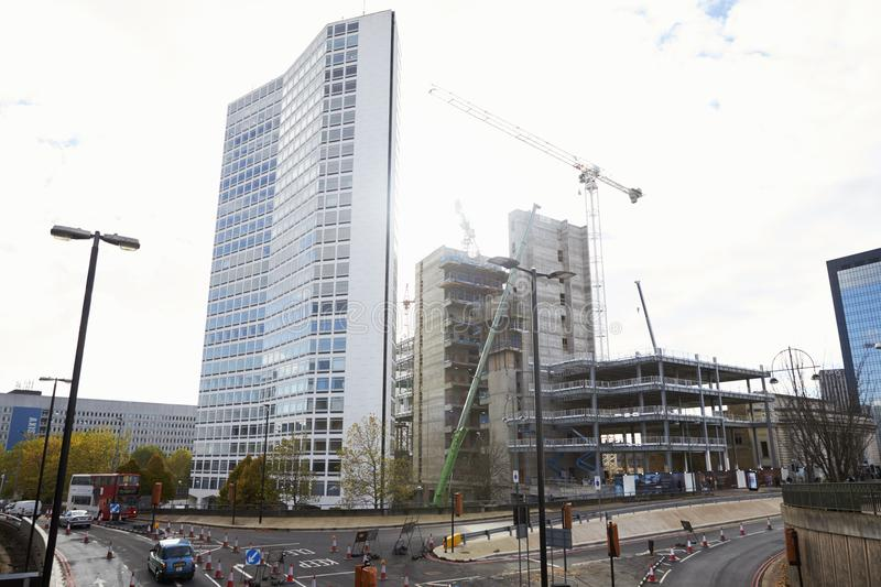 Birmingham, UK - 6 November 2016: Construction Site For Alpha Tower In Birmingham stock photo