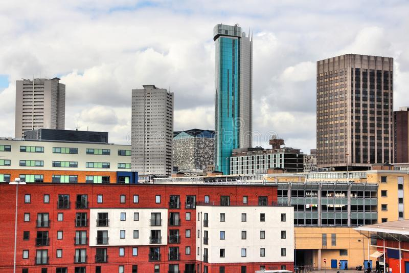 Birmingham UK. Skyline - modern cityscape of skyscrapers stock photo