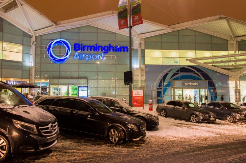 Birmingham airport building in Birmingham, United Kingdom royalty free stock photo