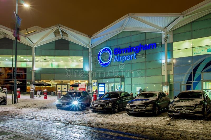 Birmingham airport building in Birmingham, United Kingdom stock image
