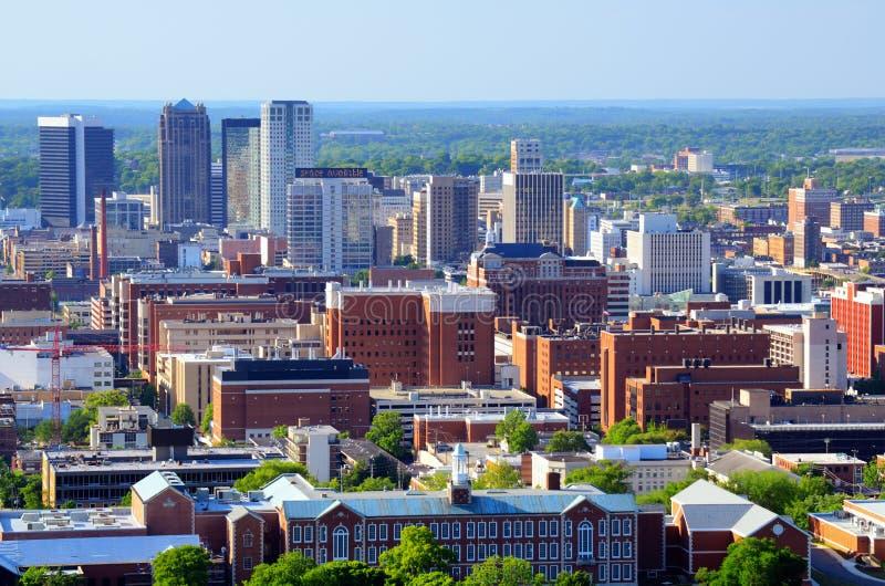 Birmingham van de binnenstad, Alabama stock foto's