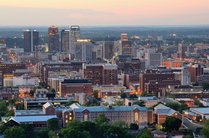 Birmingham van de binnenstad, Alabama stock foto