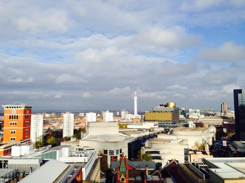 Birmingham van het dak stock fotografie