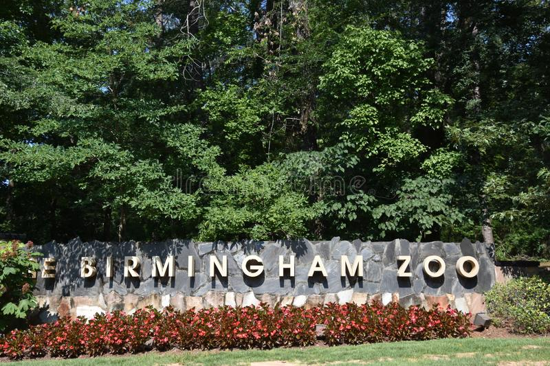 Birmingham Zoo in Alabama. It is a zoological park that opened in 1955 and is the largest zoo in Alabama royalty free stock image