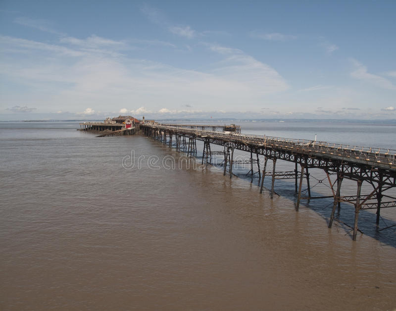 Birnbeck Pier, Weston Super Mare royalty free stock images