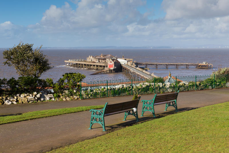 Birnbeck-Pier-Weston-Super-Stute Somerset England Großbritannien lizenzfreies stockfoto