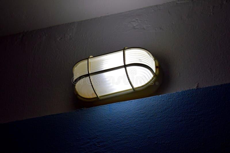 Birne in der Dunkelheit lizenzfreies stockfoto
