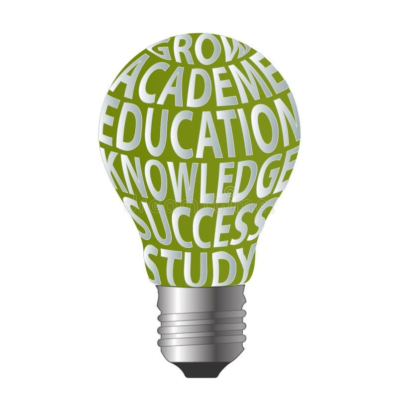 Birne von wachsen Hochschuleausbildungs-Wissenserfolg s stock abbildung