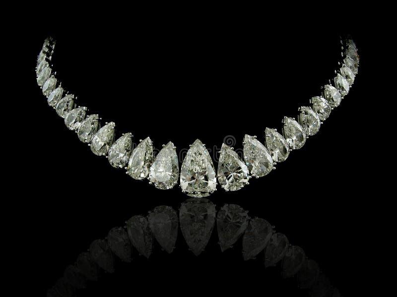 Birnen-Diamanthalskette stockfotografie