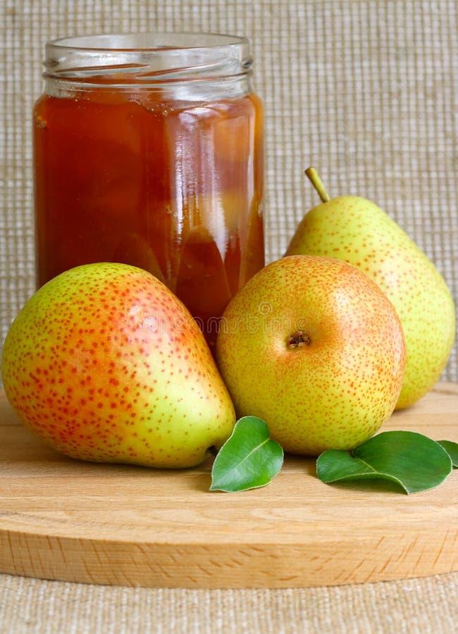 Birnen-Marmelade stockbilder