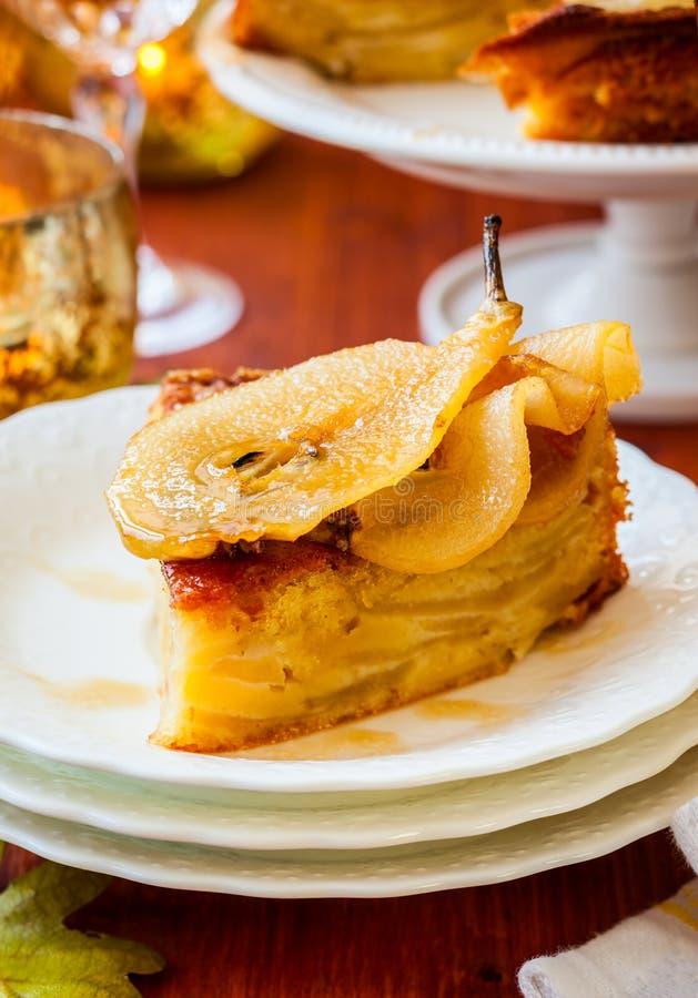 Birnenkuchen für Feiertag stockfoto