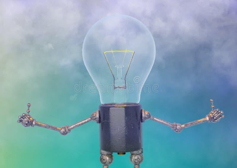 Birnenlichtcharakter in einem unscharfen Hintergrund lizenzfreie abbildung