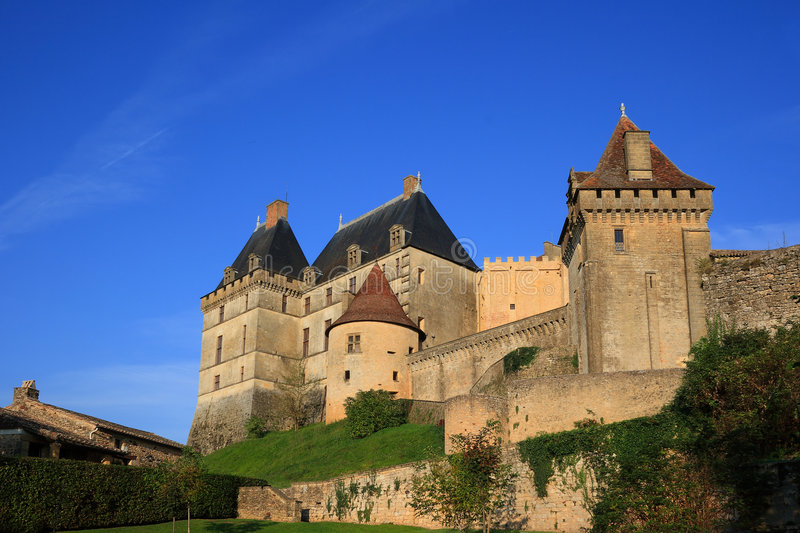 biron chateau de dordogne Γαλλία στοκ εικόνα με δικαίωμα ελεύθερης χρήσης