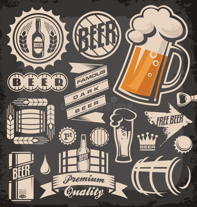 Birra illustrazione di stock