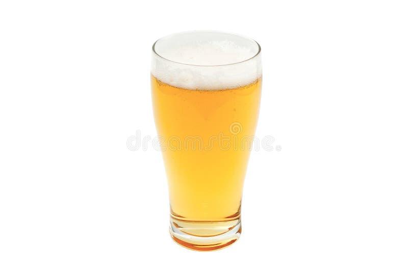 Birra ambrata in vetro della pinta fotografie stock libere da diritti