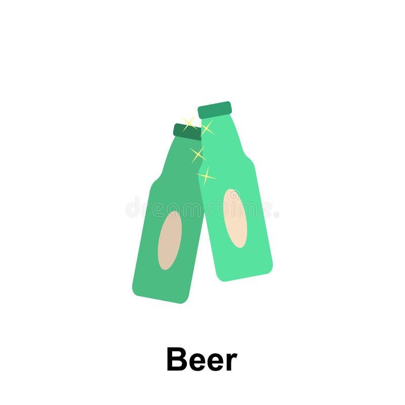 birra, bevande, alcool Icona Elemento di amicizia Icona di progettazione grafica di qualità Premium Insieme di segni e simboli illustrazione vettoriale