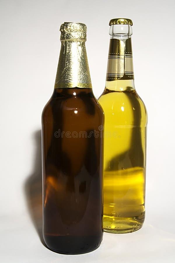 Birra chiara e scura fotografie stock libere da diritti