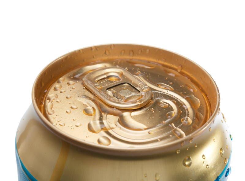 Birra chiusa dell'oro fotografia stock