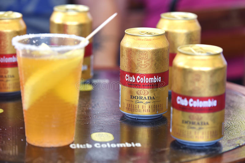 Birra colombiana fotografia stock