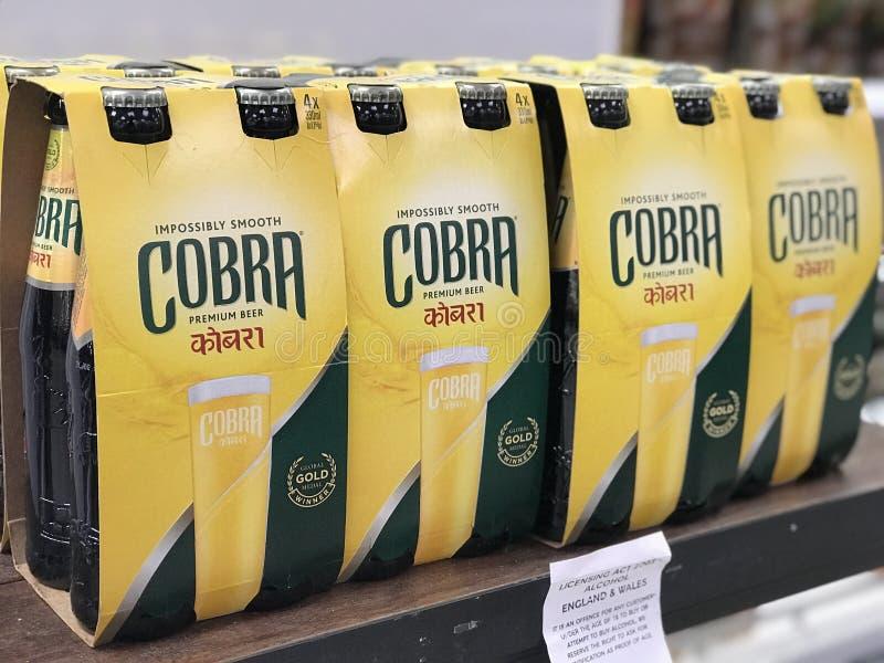 Birra della COBRA immagini stock