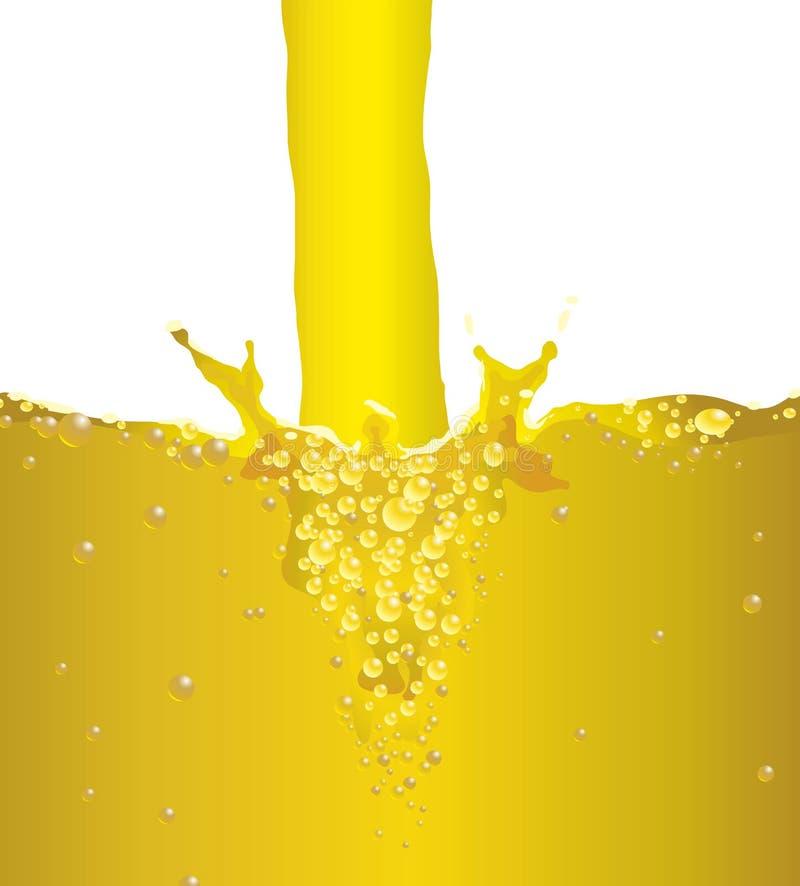 Birra della spruzzata della bolla illustrazione di stock