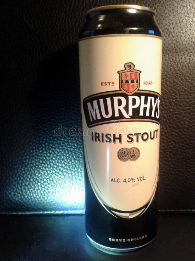 Birra di malto dell'Irlandese del ` s di Murphy immagine stock libera da diritti