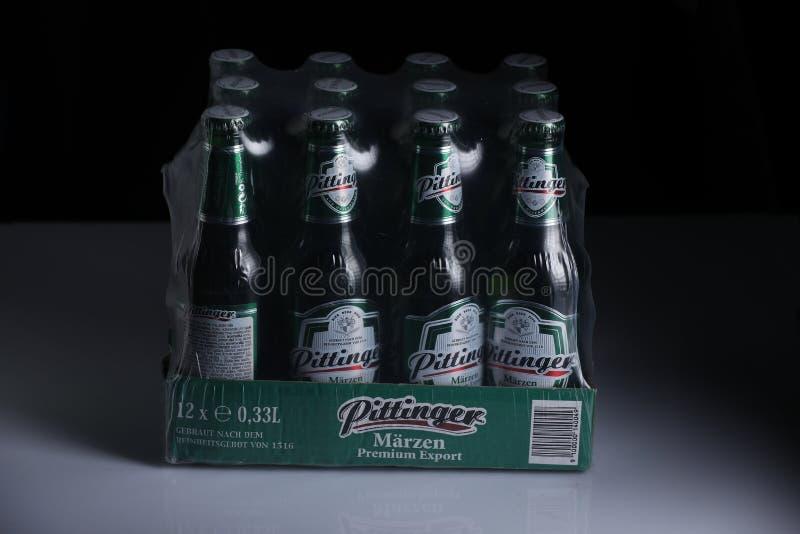 Birra di Pittinger Marzen, fondo nero immagine stock libera da diritti