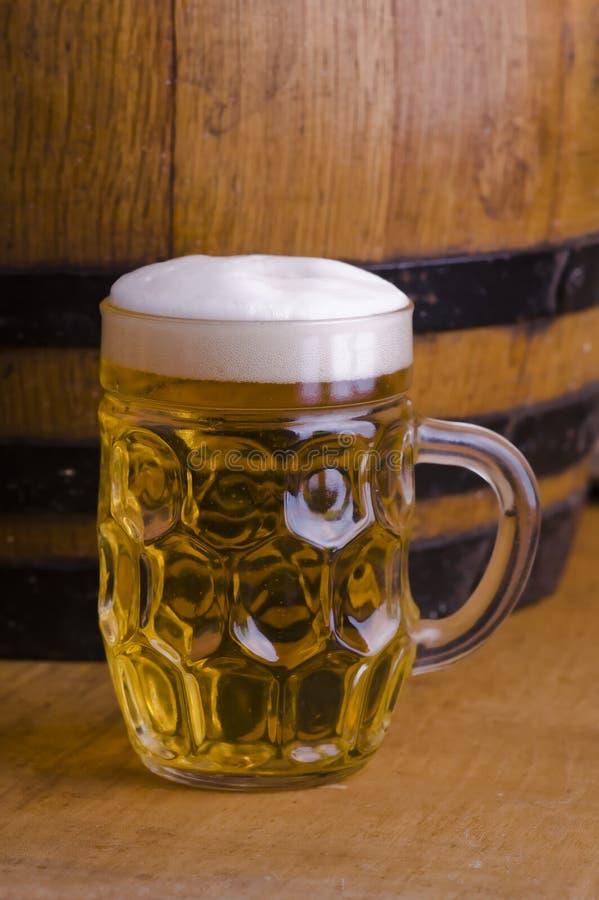 Birra di vetro fotografia stock libera da diritti