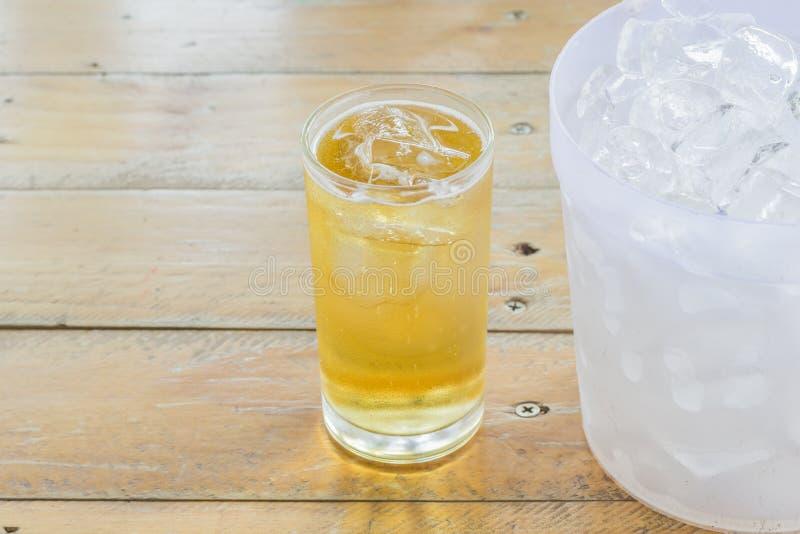 Birra e ghiaccio fotografia stock libera da diritti