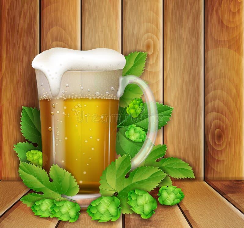 Birra e luppolo illustrazione vettoriale