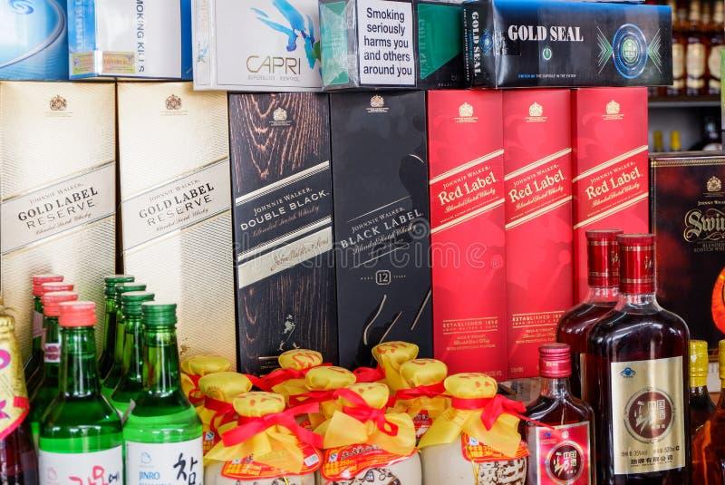 Birra ed alcool fotografia stock