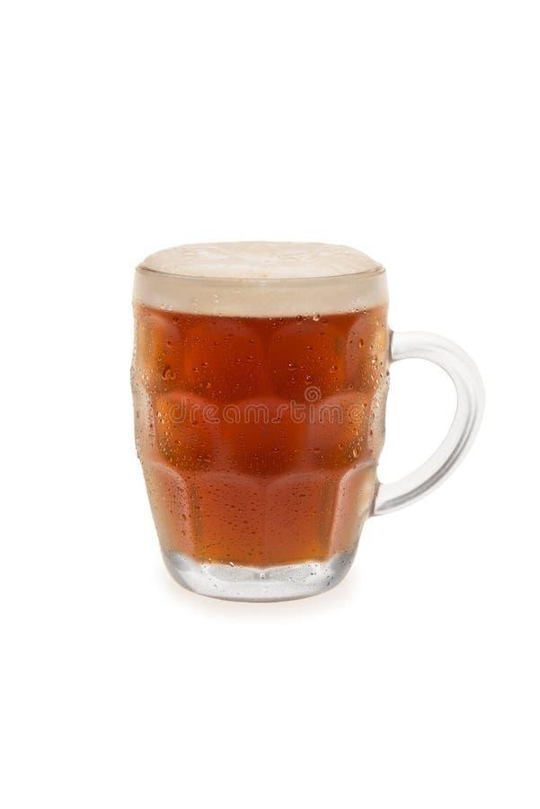 Birra forte e scura con la cima della schiuma immagine stock libera da diritti