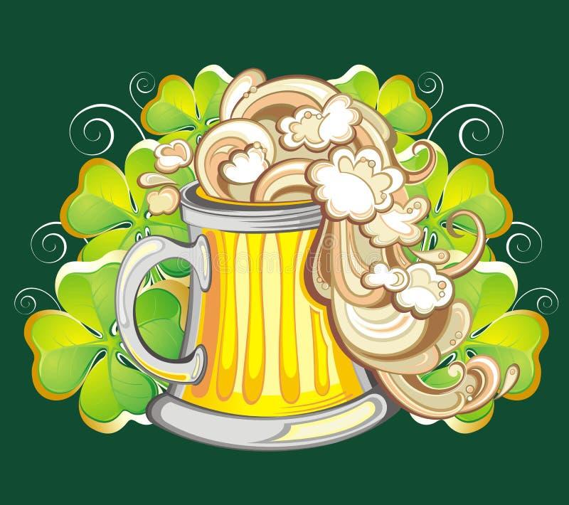 Birra irlandese illustrazione di stock