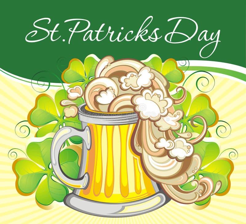 Birra irlandese illustrazione vettoriale