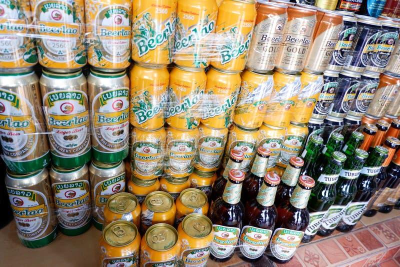 Birra nel mercato fotografia stock libera da diritti