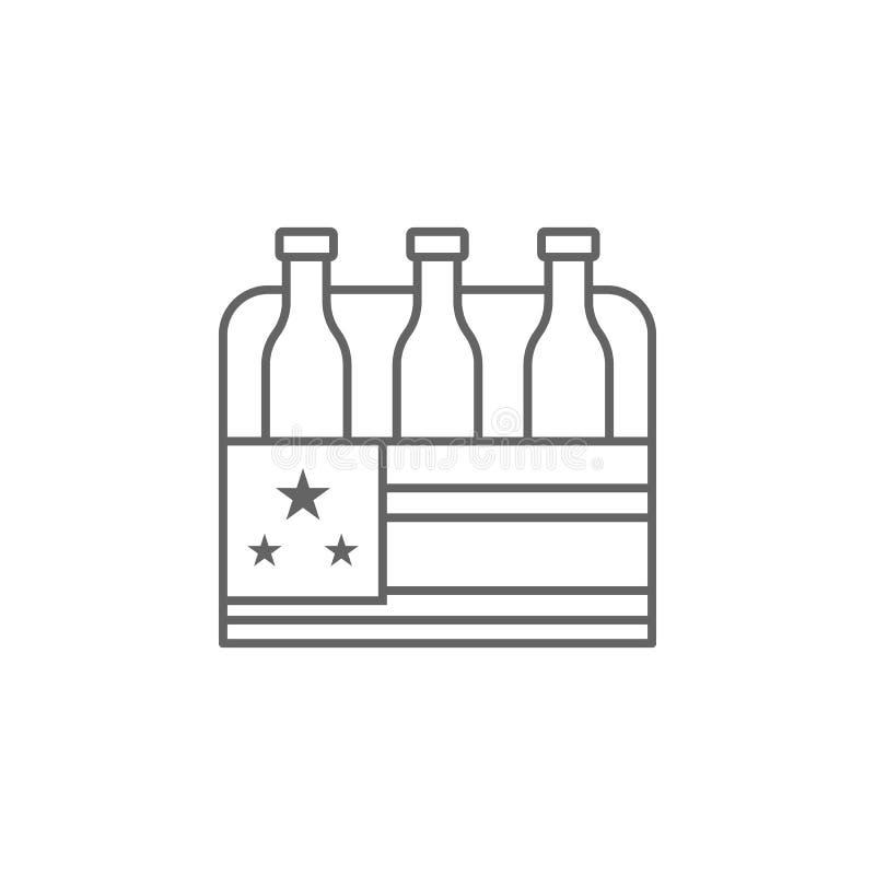 Birra U.S.A. icona del profilo del 4 luglio I segni ed i simboli possono essere usati per il web, logo, app mobile, UI, UX royalty illustrazione gratis