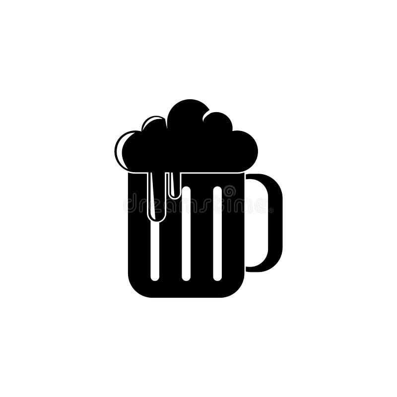 birra in un'illustrazione della tazza Elemento dell'icona del partito per i apps mobili di web e di concetto La birra dettagliata illustrazione di stock
